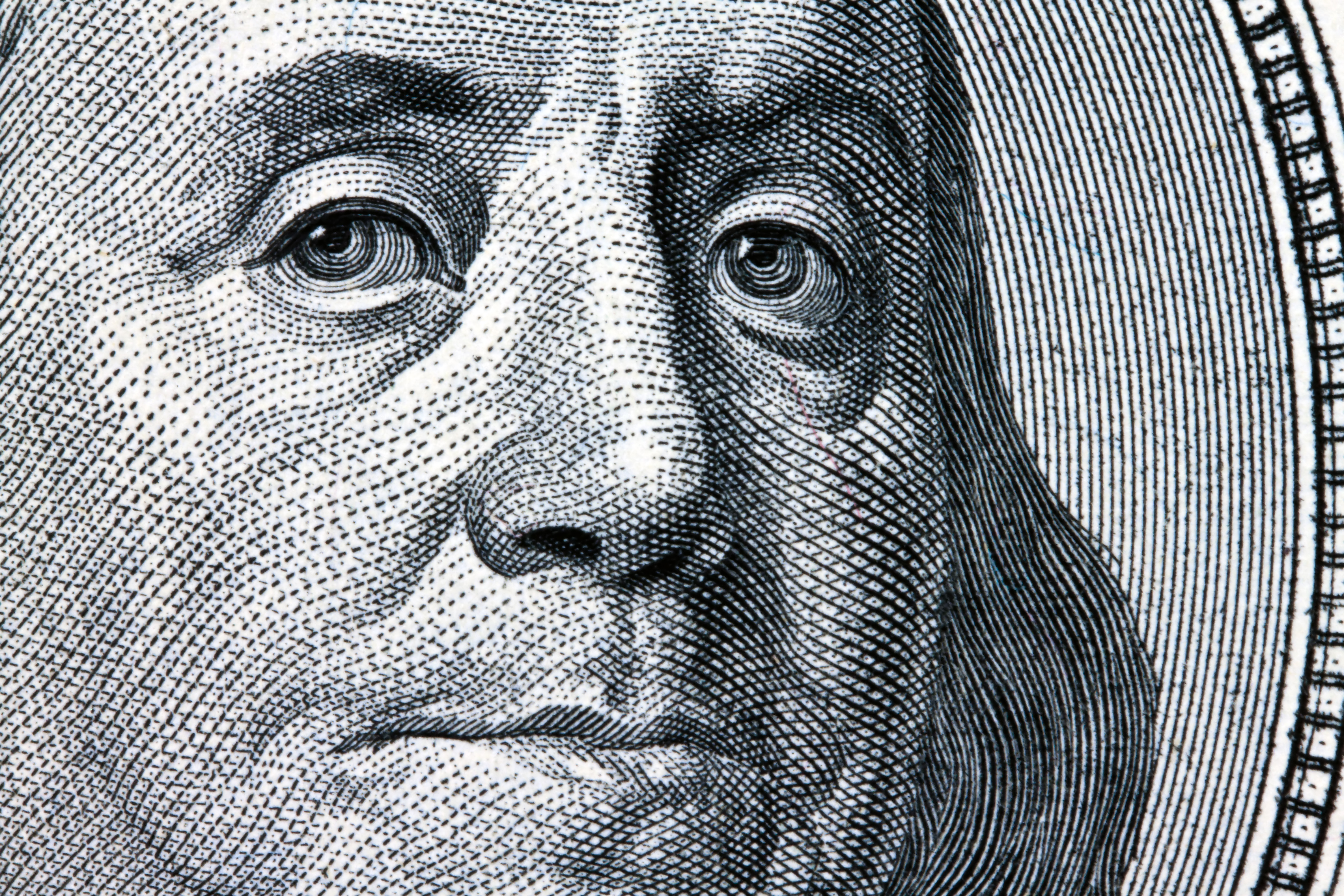 Washington on dollar note
